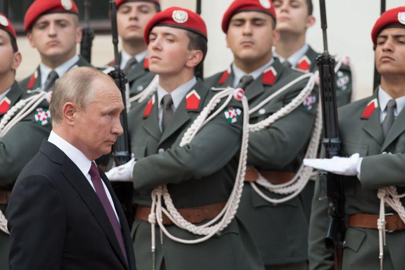 Владимир Путин во время визита в Австрию