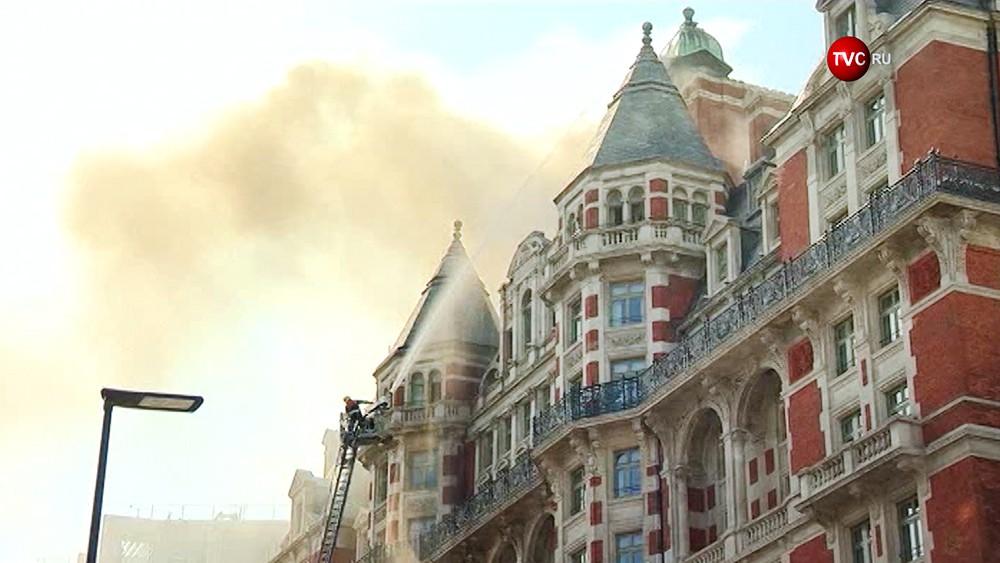 Пожар в отеле Mandarin Oriental в Лондоне