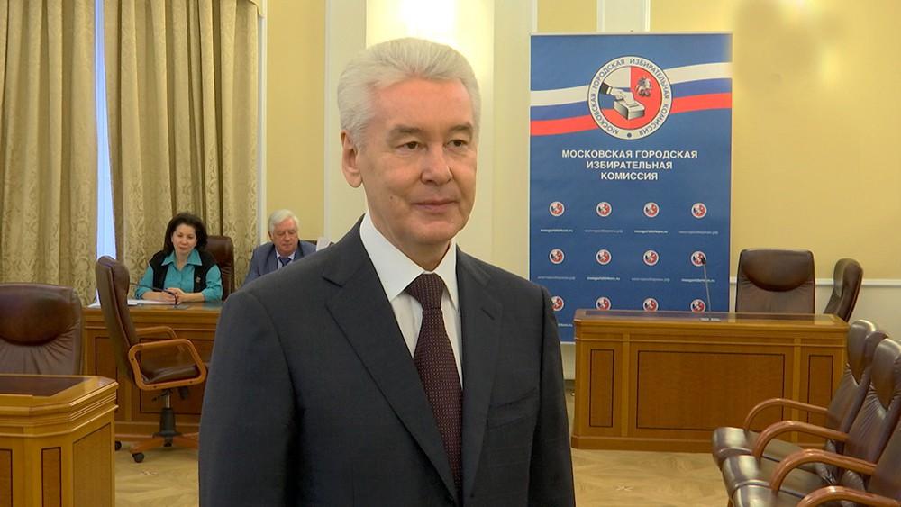 Сергей Собянин в Мосгоризбиркоме