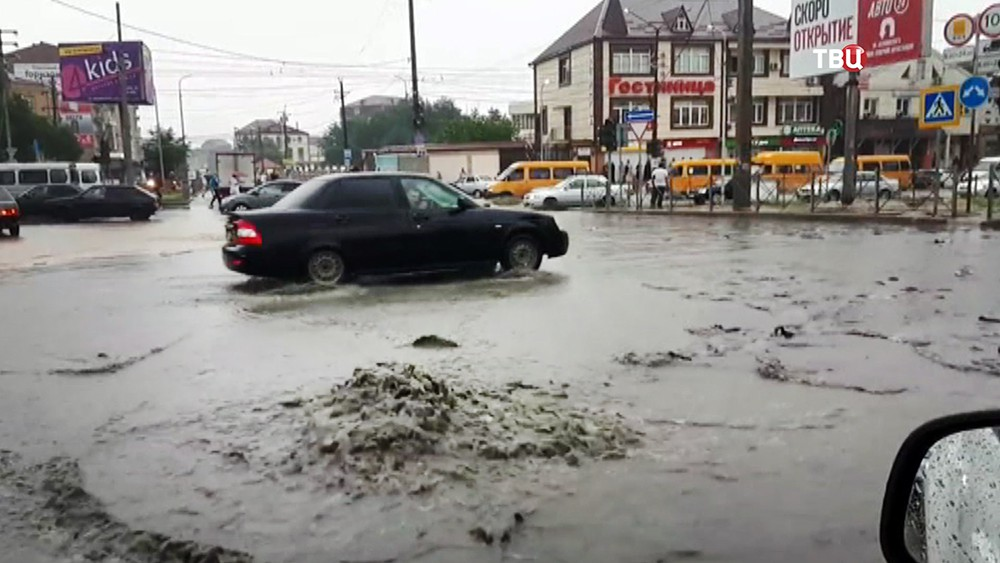 Последствия сильного ливня в Дагестане