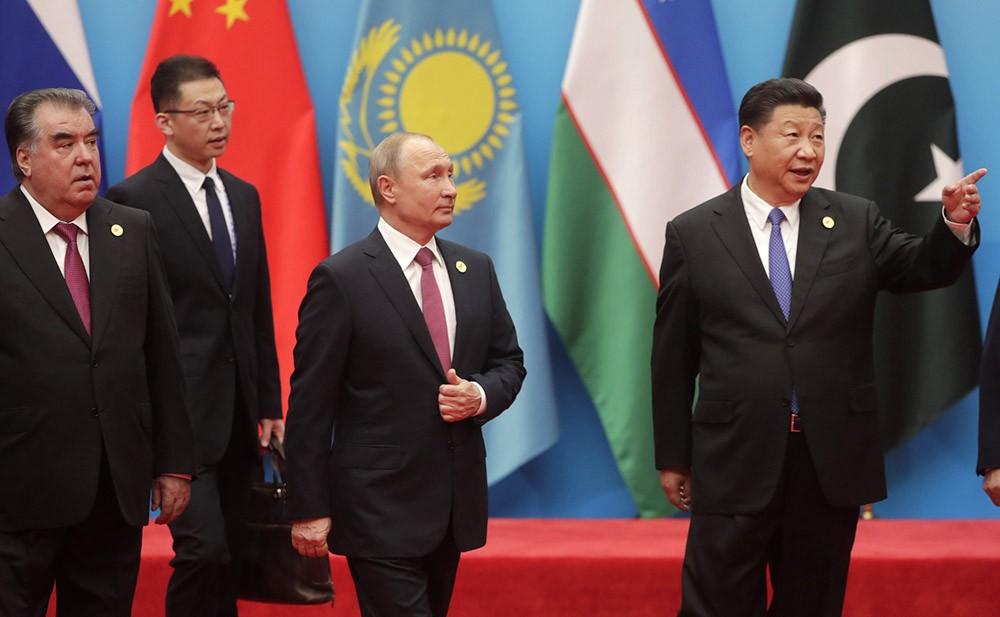 Владимир Путин на саммитае Шанхайской организации сотрудничества (ШОС)