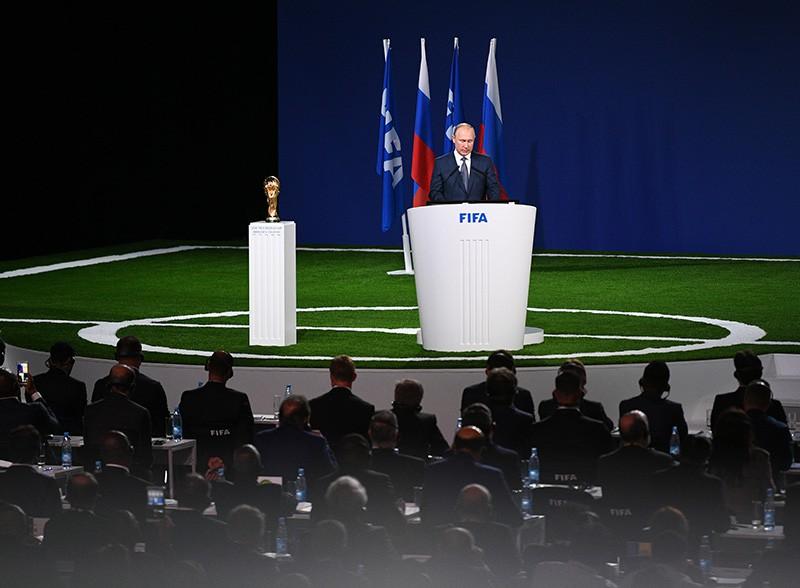 Владимир Путин на заседании 68-го конгресса FIFA