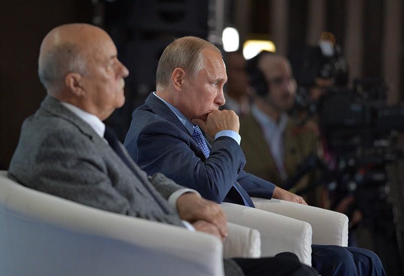 Станислав Говорухин и Владимир Путин