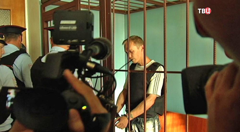 Роман Черников в зале суда