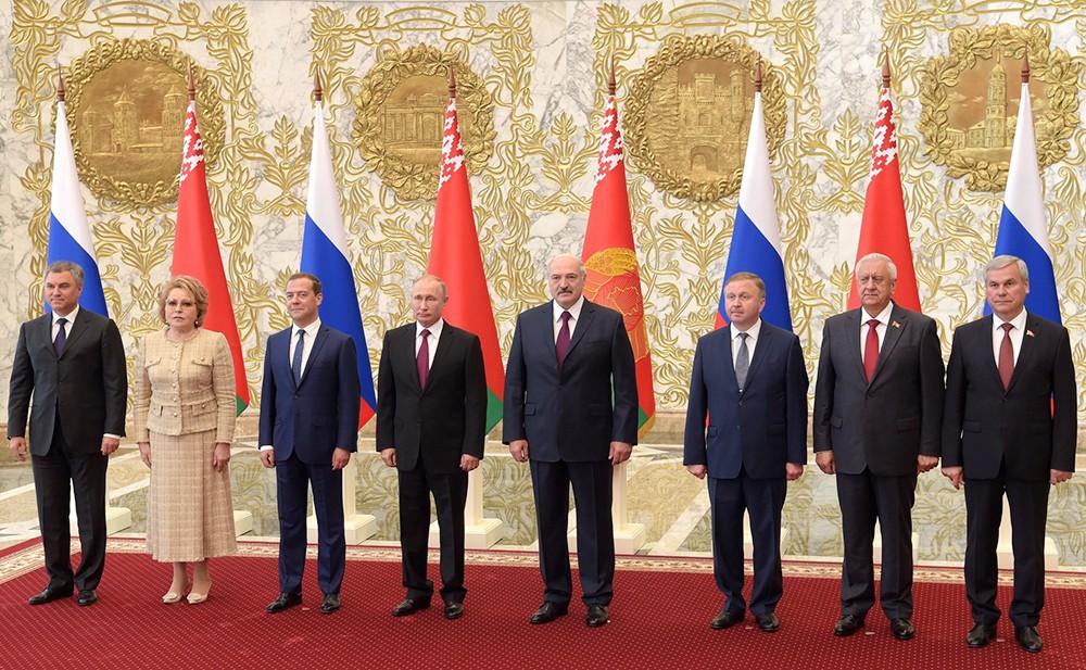 Участники заседания Высшего Государственного Совета Союзного государства