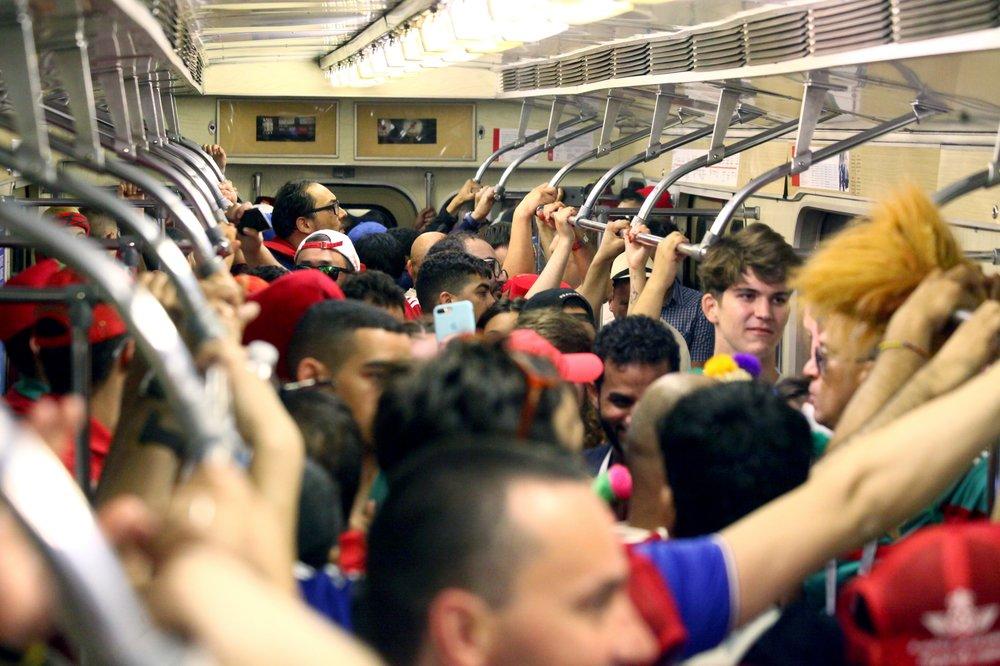 Болельщики в метро