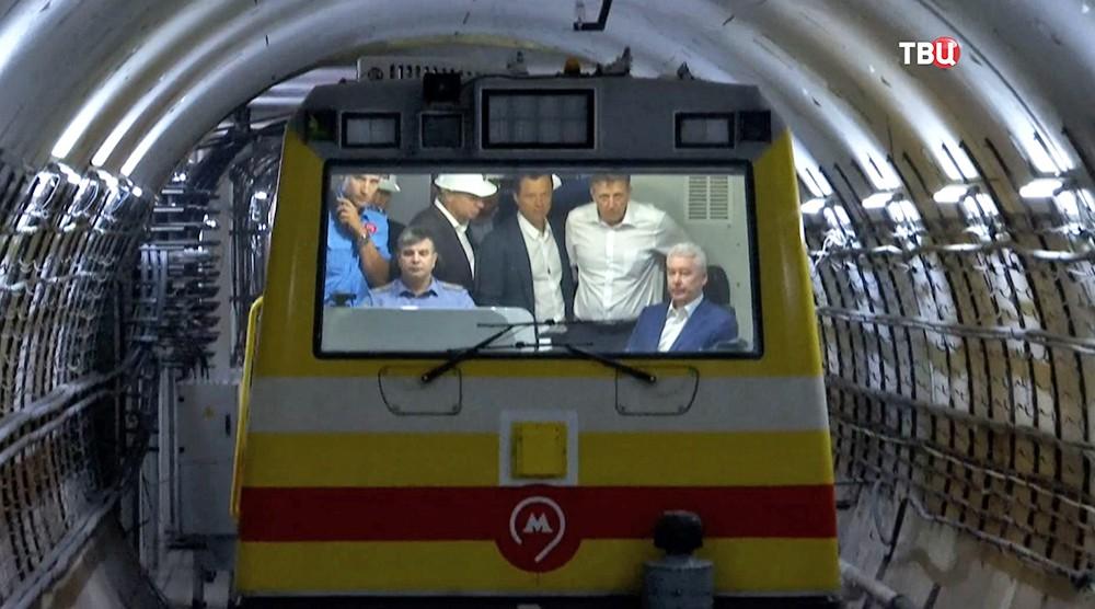 Мэр Москвы Сергей Собянин осматривает новые станции