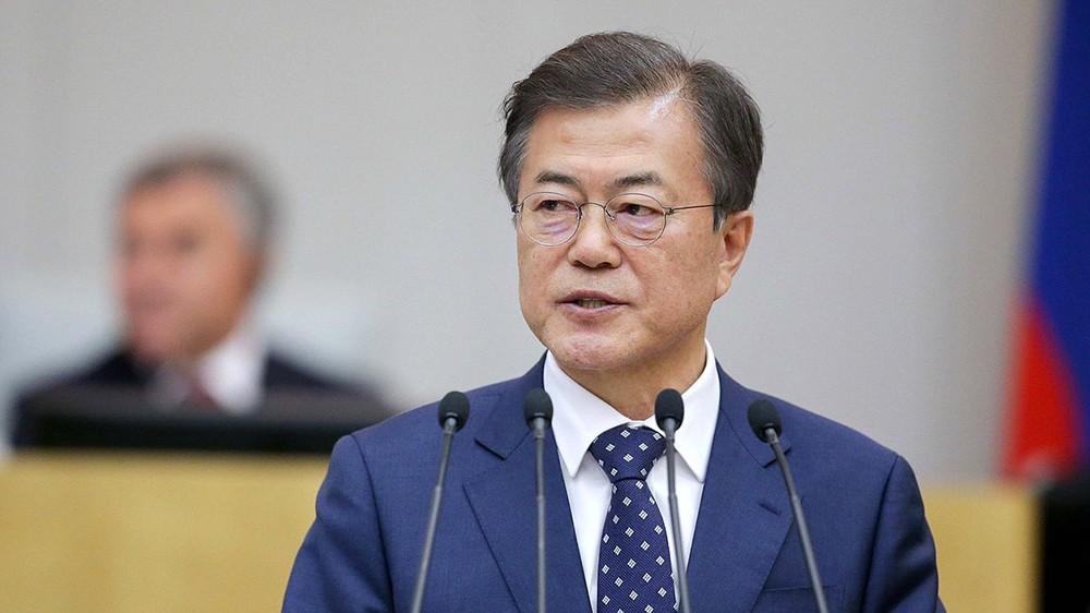 Президент Южной Кореи Мун Чжэ Ин в Госдуме России