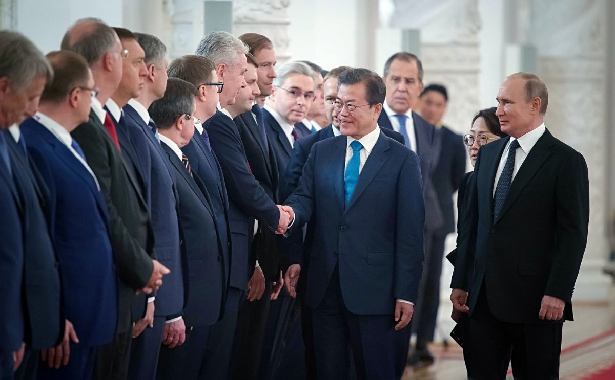 Владимир Путин и Мун Чжэ Ин