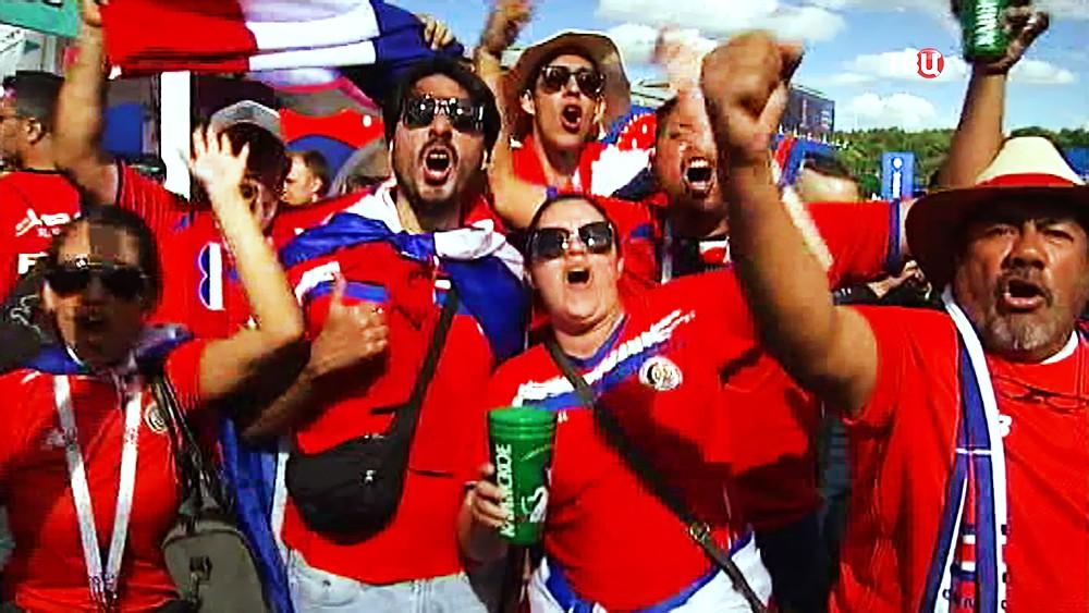 Болельщики Коста-Рики