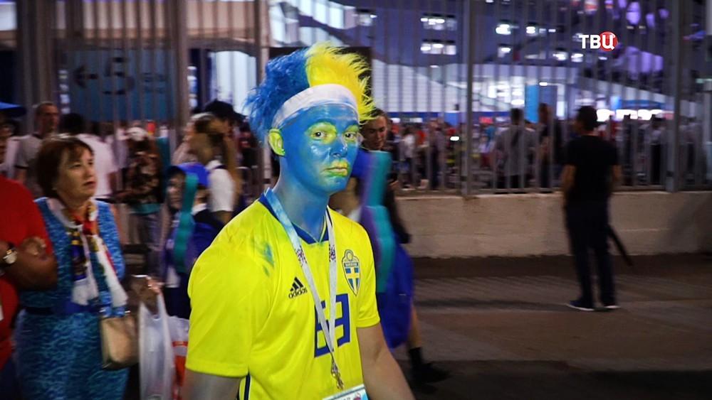 Болельщики Швеции