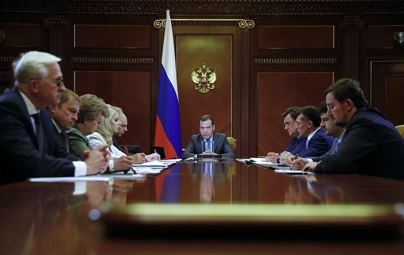 Дмитрий Медведев проводит совещание о мерах по развитию экономики и социальной сферы