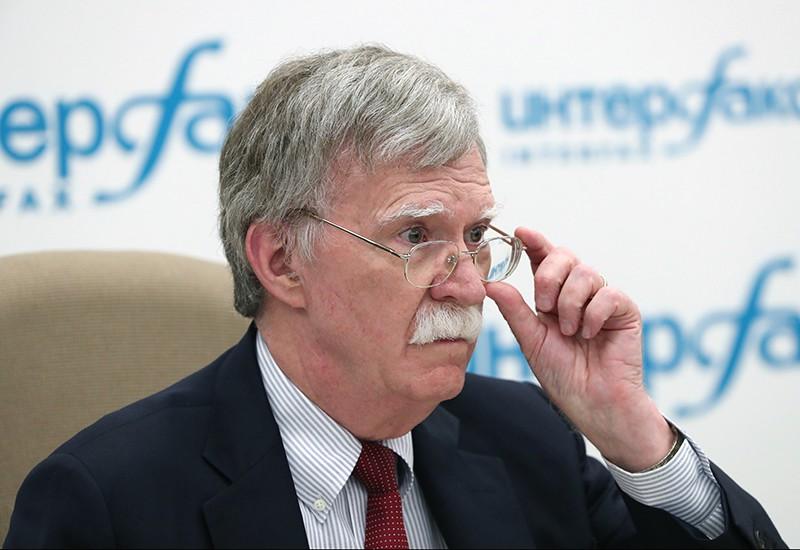 Советник президента США по вопросам национальной безопасности Джон Болтон на пресс-конференции в Москве