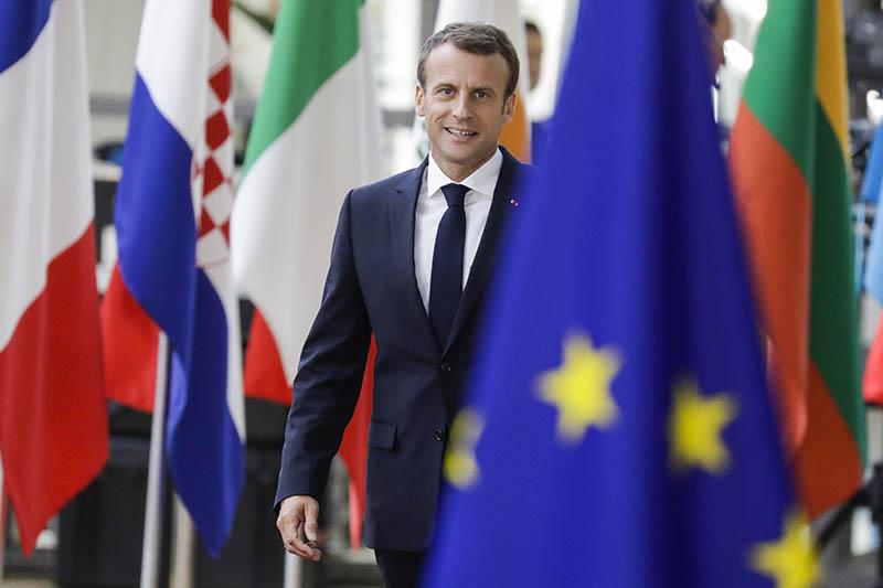 Эмманюэль Макрон на саммите ЕС в Брюсселе