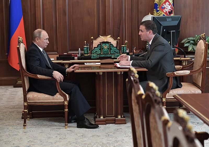 Владимир Путин и министр сельского хозяйства Дмитрий Патрушев