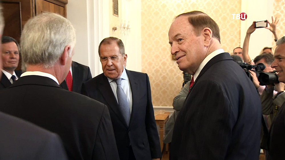 Сергей Лавров на встрече с конгрессменами из США