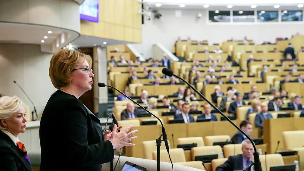 Вероника Скворцова в Госдуме