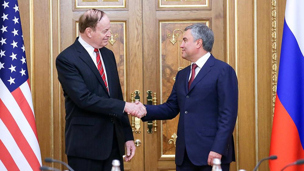 Председатель Комитета Конгресса США по ассигнованиям Ричард Шелби и председатель Госдумы Вячеслав Володин