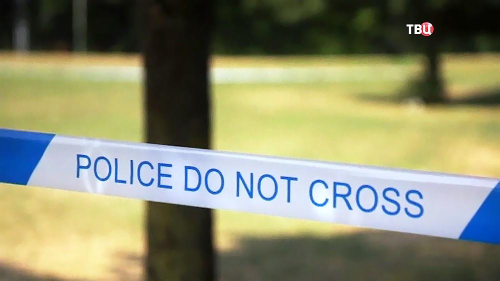 Оцепление полиции Великобритании