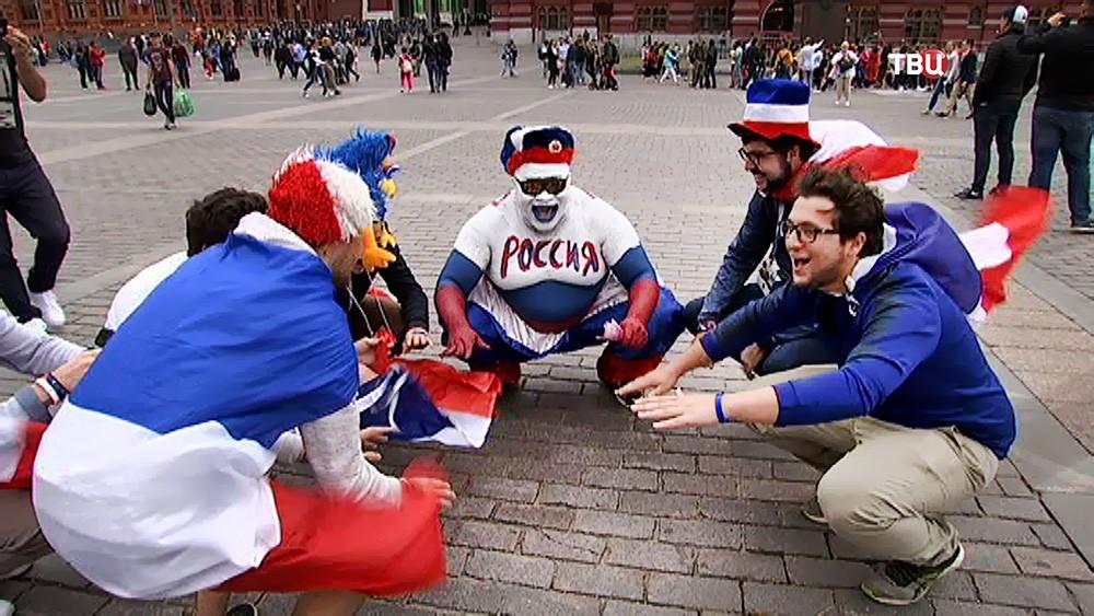 Болельщики России и Франции