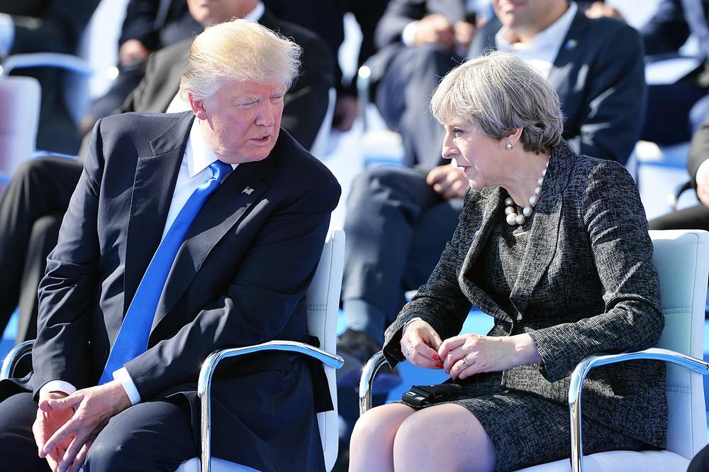 Дональд Трамп и Тереза Мэй