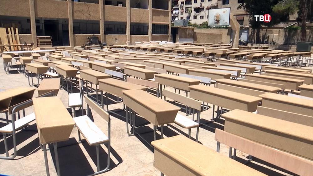 парты для сирийских школьников