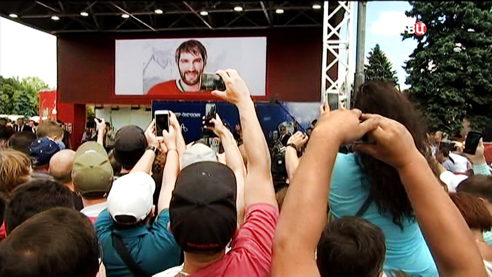 Александр Овечкин перед фанатами