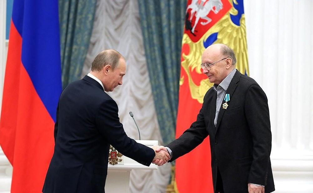 Владимир Путин и актёр Андрей Мягков
