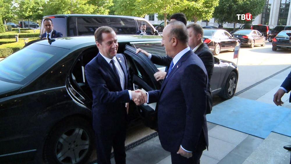 Председатель правительства России и президент Азербайджана Ильхам Алиев