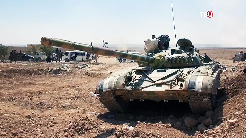 Танк армии Сирии