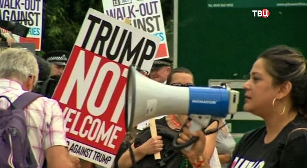 Акция протеста в Британии