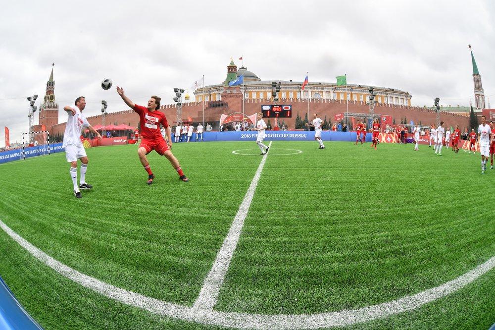 Футбольный матч на Красной площади
