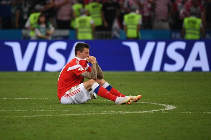 Федор Смолов после поражения сборной России от хорватов