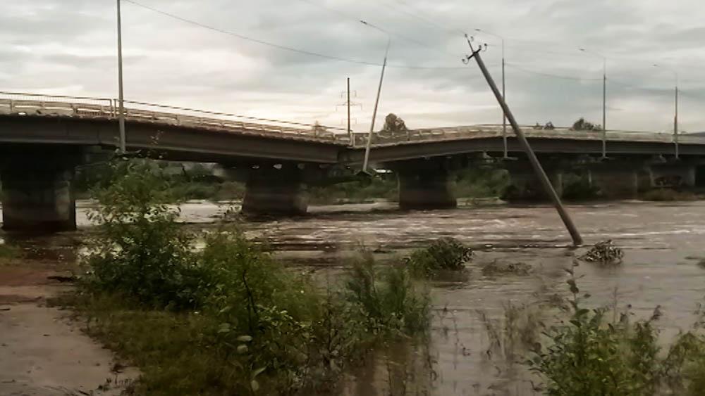 Обрушение моста под Читой