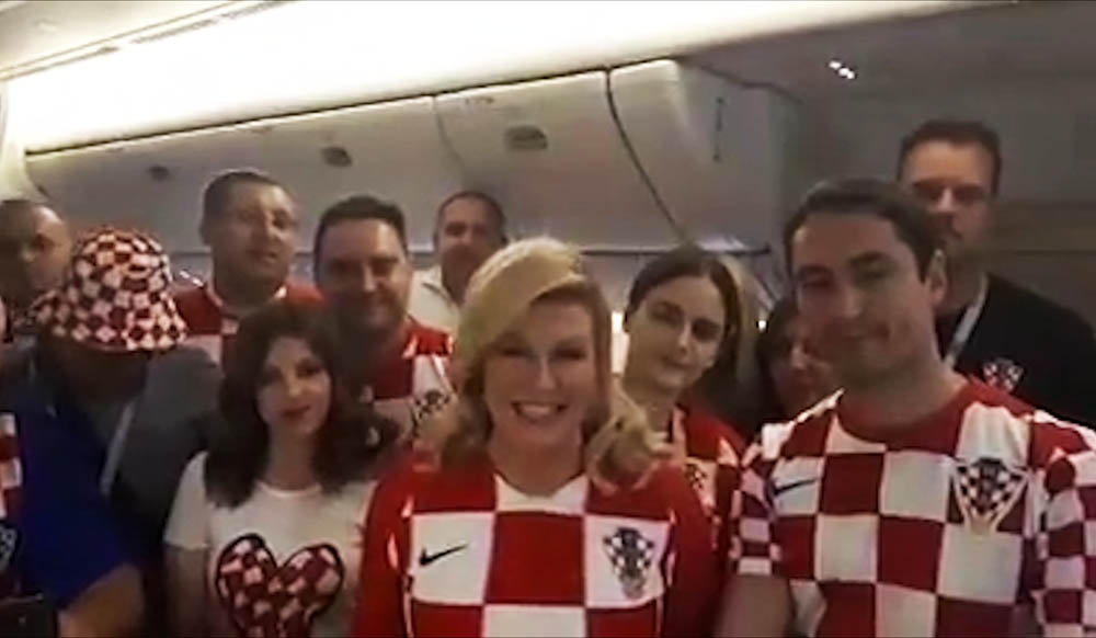Президент Хорватии Колинда Грабар-Китарович благодарит Россию за ЧМ
