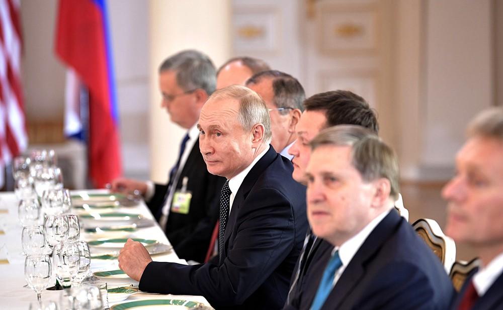 Владимир Путин на саммите Россия - США