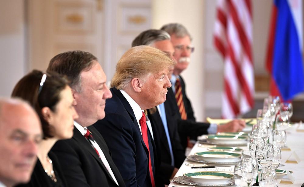 Дональд Трамп на саммите Россия - США
