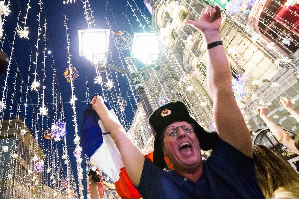 Болельщики Франции в Москве