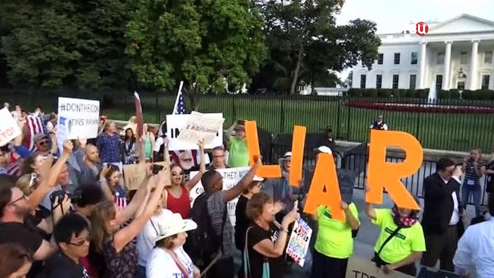 Митинг у Белого дома в США
