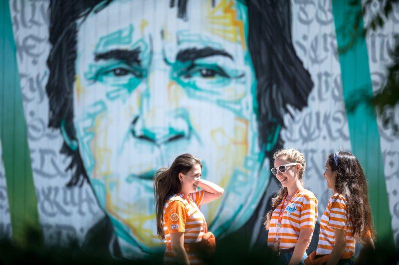 Граффити с изображением Владимира Высоцкого
