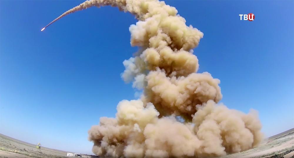 Пуск ракеты системы ПРО