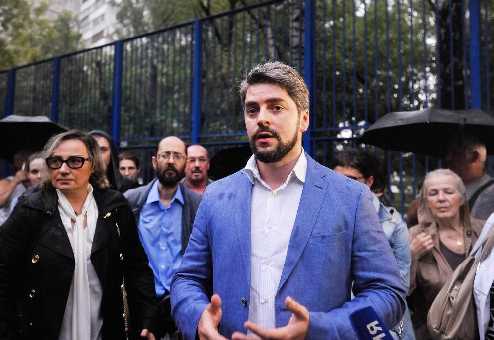 Кандидат в мэры Москвы Илья Свиридов на встрече с жителями