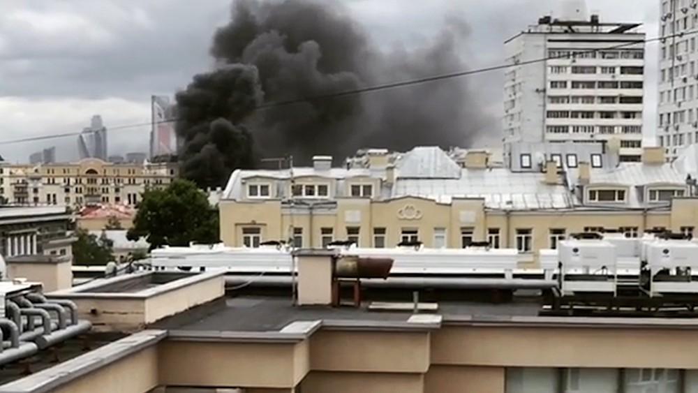 Возгорание детского сада в Москве
