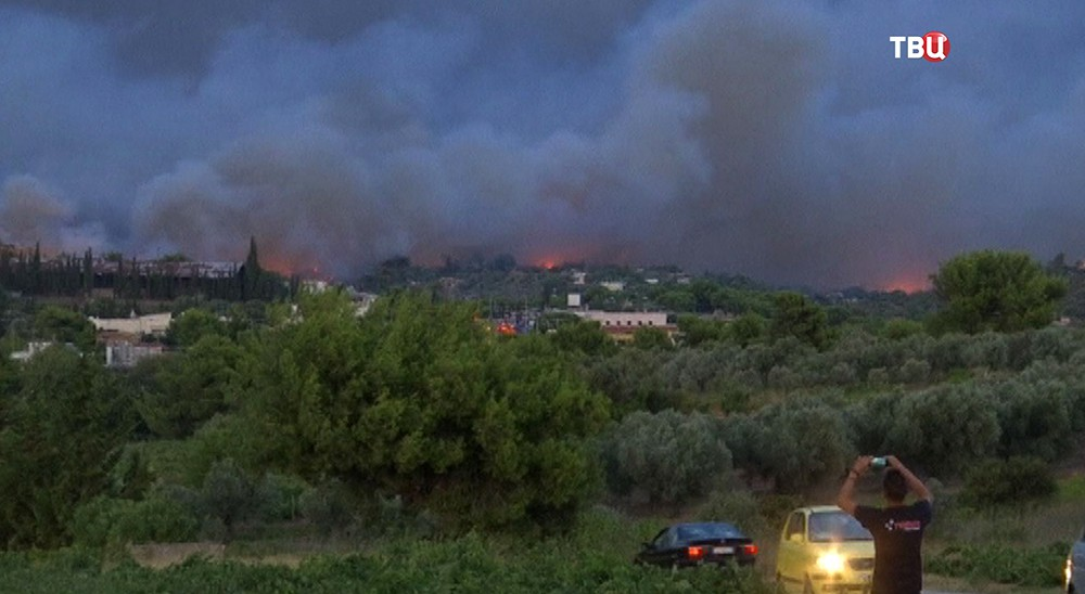 Пожар в Греции