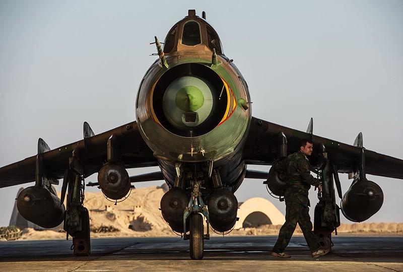 Истребитель-бомбардировщик Су-22 ВВС Сирии