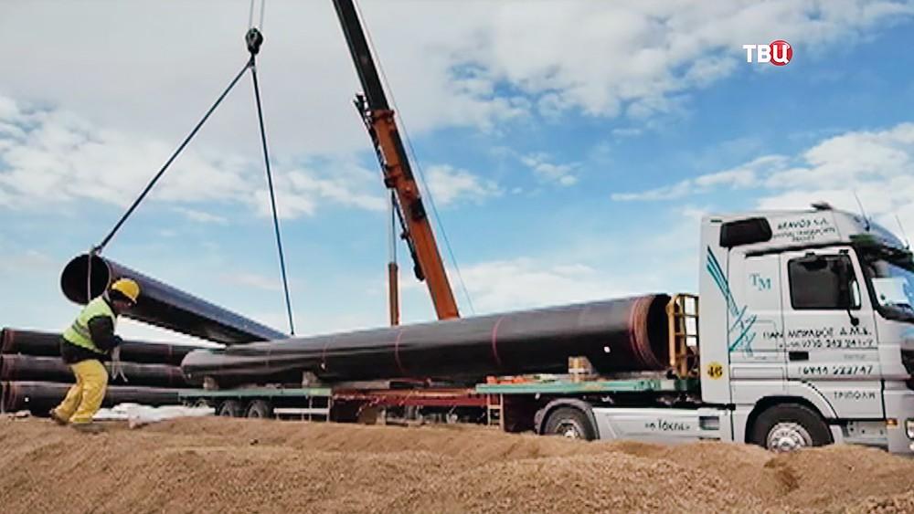 Строительство трансатлантического газопровода