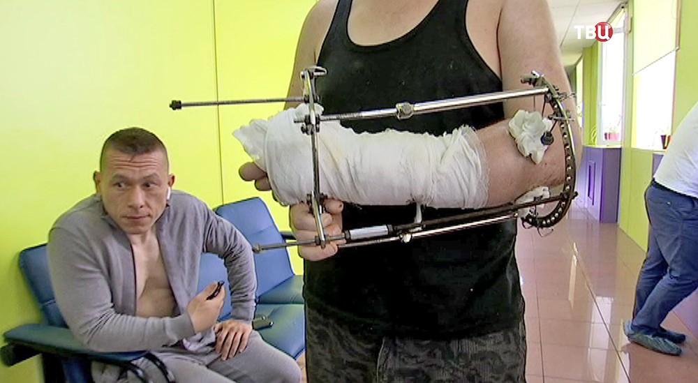 Рука пациента после операции
