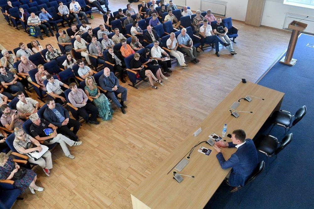 Встреча кандидата в мэры Москвы Михаила Дегтярева с доверенными лицами