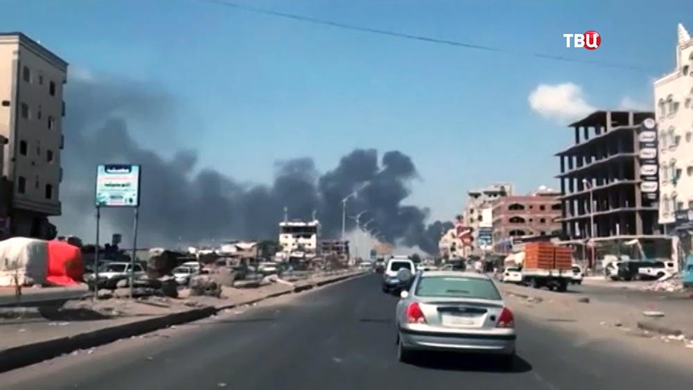 Последствия обстрела Йемена