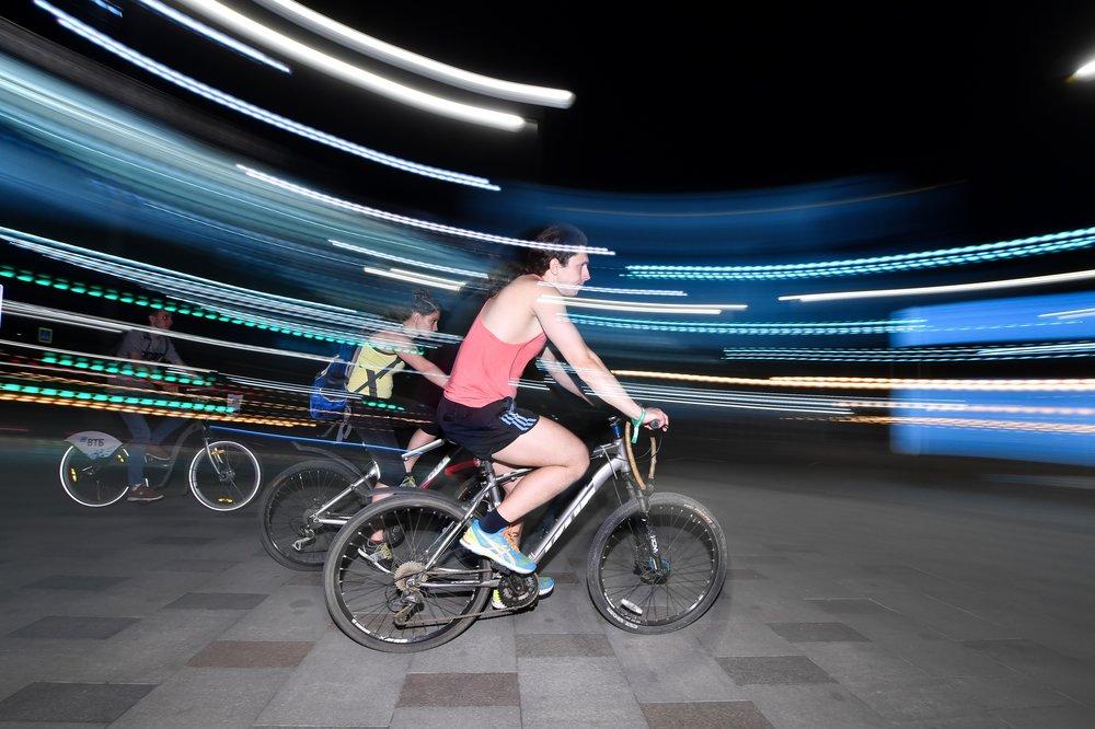 Ночной Московский велопарад